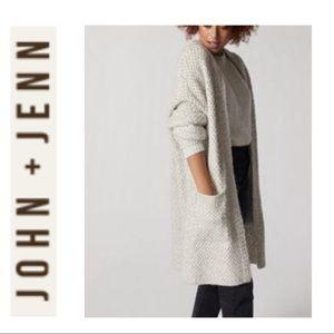John + Jenn Long Basket Weave Cardigan